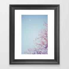 Peek-a-Boo Moon Framed Art Print