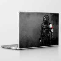 bucky barnes Laptop & iPad Skins featuring Who the hell is Bucky? by charlotvanh