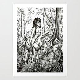 Centaur hunter Art Print