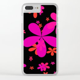 Flower Power 2 Clear iPhone Case