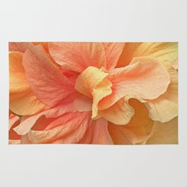 Tropical Peach Hibiscus Rug
