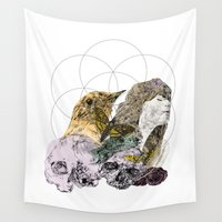 sacred geometry Wall Tapestries featuring Sacred by Ashley Payne