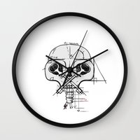 architect Wall Clocks featuring The Architect by Gwen Parker