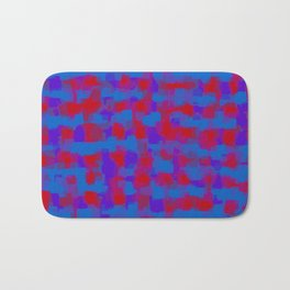blue purple and red pattern painting abstract background Bath Mat