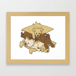 S'mores Puppies Framed Art Print