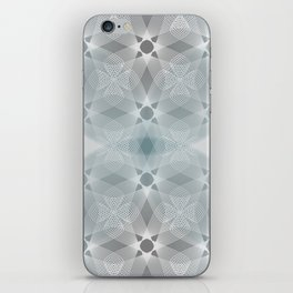 Colliding Circles in Teal and Grey iPhone Skin