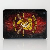quidditch iPad Cases featuring Gryffindor lion quidditch team captain iPhone 4 4s 5 5c, ipod, ipad, pillow case, tshirt and mugs by Three Second