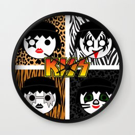 KISS MOBIL / Dynasty - Metal - Creatures of the night - Digital Ilustration - pop art Wall Clock
