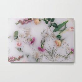 Milk Bath Metal Print