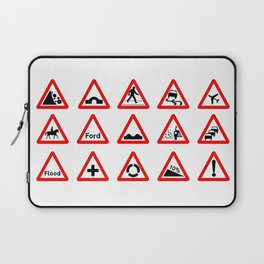 15 Triangle Traffic Signs Laptop Sleeve