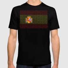 digital Flag (spain) Black MEDIUM Mens Fitted Tee