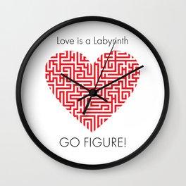 Love is a Labyrinth Wall Clock