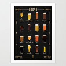 Beer Guide Art Print