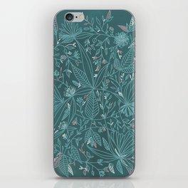 Floral Weave Teal iPhone Skin