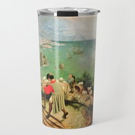 Landscape With The Fall Of Icarus Painting Pieter Bruegel The Elder Travel Mug