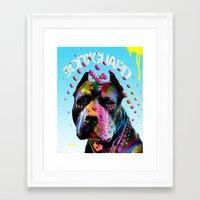 pitbull Framed Art Prints featuring pitbull  by mark ashkenazi