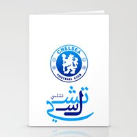 chelsea Stationery Cards featuring Chelsea by Sport_Designs