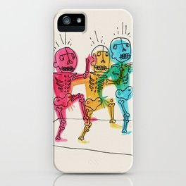 Skeletons Dancing iPhone Case