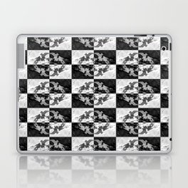 Swimming Glyphs and Sunflowers: Checkered Version Laptop & iPad Skin