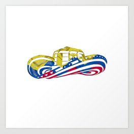 Colombian Sombrero Vueltiao in Colombian Flag Colors Art Print
