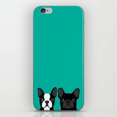 Boston Terrier and French Bulldog iPhone Skin