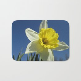 Daffodil Out of the Blue Bath Mat