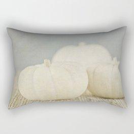 White Pumpkins Rectangular Pillow