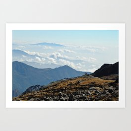 walking above the clouds Art Print