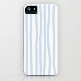 Light Blue Stripes iPhone Case