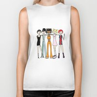 spice girls Biker Tanks featuring The Spice Girls by flapper doodle
