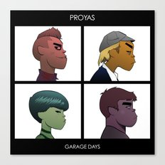 Garage Days Canvas Print