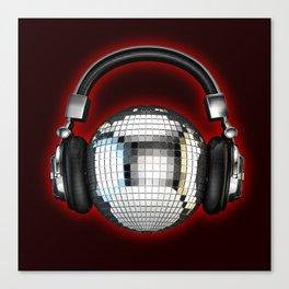 Headphone disco ball Canvas Print