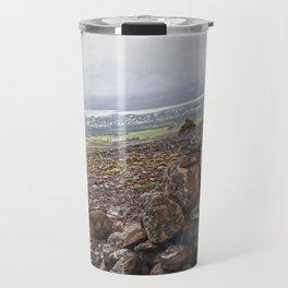 Rock Piles on the Hike to Fardagafoss in Eastern Iceland Travel Mug