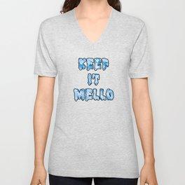 Keep it mello watercolor Unisex V-Neck
