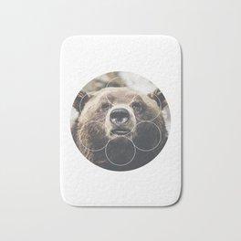 Big Bear Buddy - Geometric Photography Bath Mat