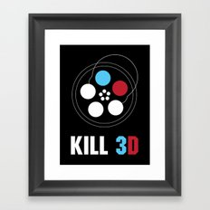 Kill 3D Framed Art Print