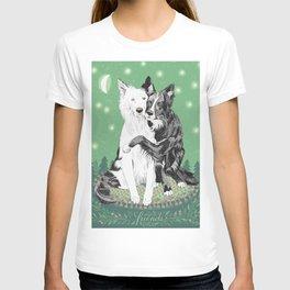 Hugging dogs T-shirt