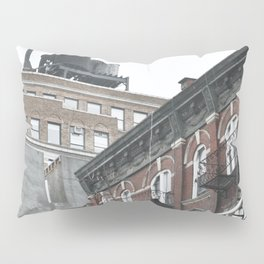 New York City corners, fire escapes, ladders fine art , nyc, America, photo Pillow Sham