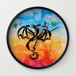 Full of Himself Dragon Wall Clock