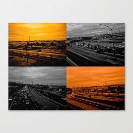 Riding on the metro, orange crush Canvas Print