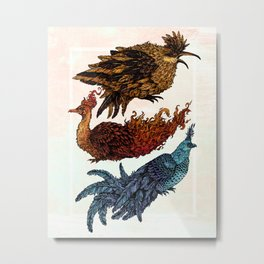Legendary Birds Metal Print