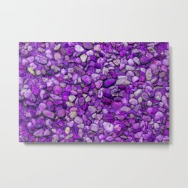 Background Texture Ultraviolet Sea Pebbles Close-up Outdoors Metal Print