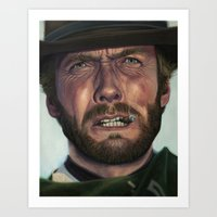 clint eastwood Art Prints featuring Clint Eastwood by scottmitchell