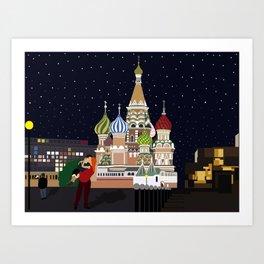Love at the Moscow Kremlin Art Print
