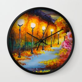 Lights will guide you home Wall Clock