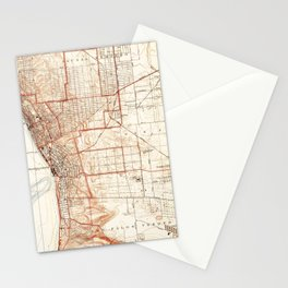 Vintage Map of Redondo Beach & Torrance CA (1934) Stationery Cards
