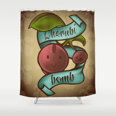 Cherubi Bomb Shower Curtain
