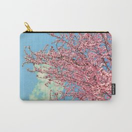Spring pink flowers. Vintage Carry-All Pouch