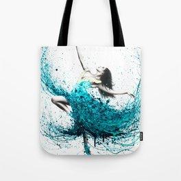 Teal Dancer Tote Bag