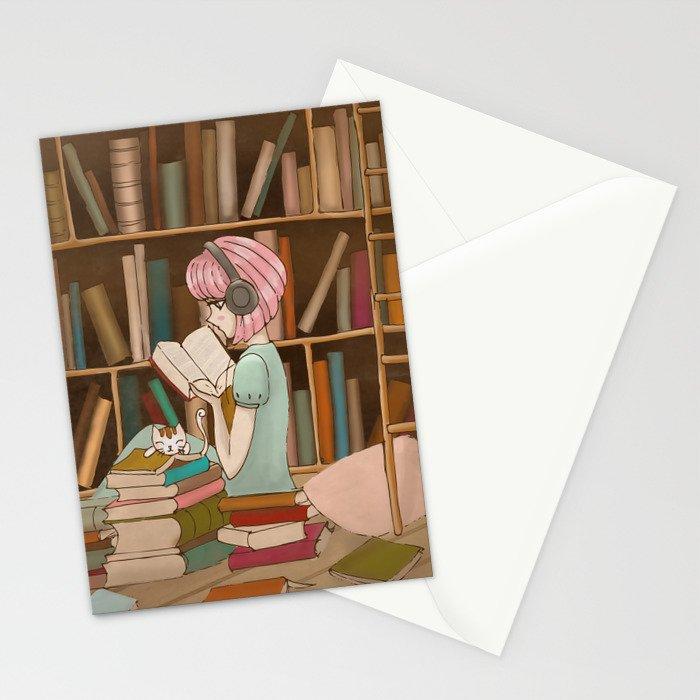 I Love Books Stationery Cards